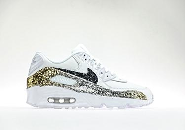 Ltr degrade' glitter gold-silver