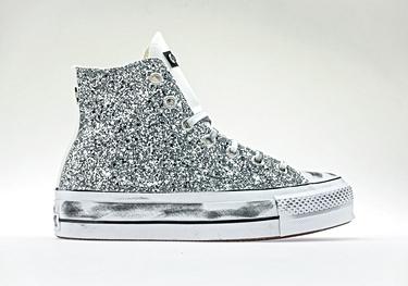 Silver-glitter