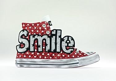Smile red pois-glitter