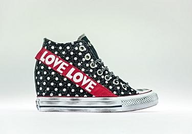 Black pois-glitter red-love