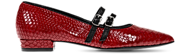 1AGO1321, leather | RED-BLACK