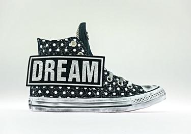 Dream black pois-glitter