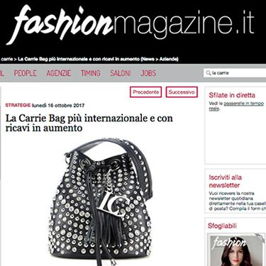 La Carrie in crescita @ fashionmagazine.it