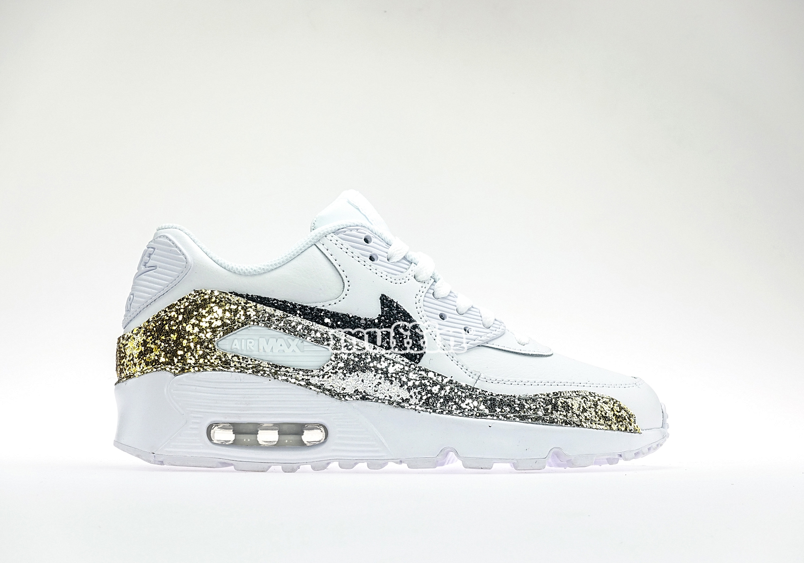 Nike air max degrade glitter gold silver jpg 1600x1120 Gold glitter nike  high tops 381fb26de6