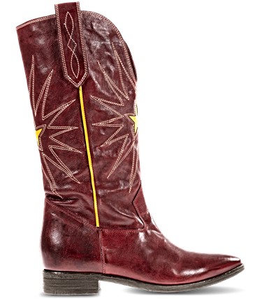1PLAY300, LEATHER | RED-YELLOW
